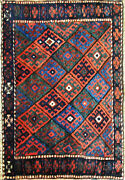 Antique Kurdish Bag Face Oriental Rug Bag 2and039 X 3and039 Excellent 17122