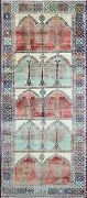 Antique Charming Oushak Gallery Carpet 5and0394 X 12and0399 15535