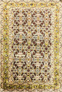 3and0396 X 5and039and039 Magnificent Antique Silk Mahal Rug Great Colors.17047