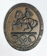 1956 Stockholm Olympic Games Equestrian Events Participation Medal