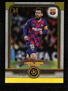 2019-20 Topps Museum Collection Uefa Champions League Gold /50 Lionel Messi 1