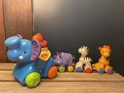 2008 Fisher-price Musical Press And Go Animal Parade Playset Rare Circus Toy Train