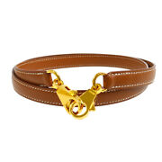 Hermes Shoulder Strap For Kelly Brown Courchevel Leather Authentic 90116