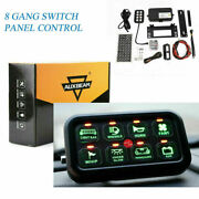 8 Gang Led Car Touch Switch Panel Box Electronic Relay System For Truck Atv Utv