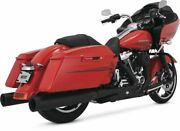 Vance And Hines Power Dual Exhaust For Harley-davidson Flh Flt 2017-2020 Black