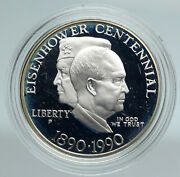 1990 United States Usa General And President Eisenhower Proof Silver Coin I89455