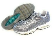 Mens Nike Air Max 95 Anniversary Qs 818721 001 Silver 2015 Ds Sneakers Shoes