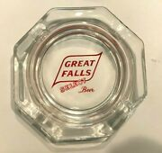 A Vintage Great Falls Select Beer Glass Ashtray Great Falls Brg Great Falls Mt