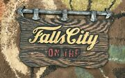 Vintage Falls City Beer On Tap Composition Sign Falls City Brewing Louisville Ky