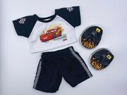 Build A Bear Disney Cars Lightning Mcqueen Outfit W/ Flame Shoes Teddy Clothes