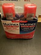 Mucinex Sinus Max Day Severe Congestion Cough Night Cold And Flu Liquid 2-6oz Exp