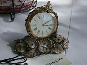 Jay Strongwater Mayfair Leaf And Bee Clock Delft Garden Retail 450 With Tags