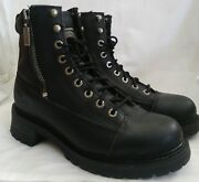 Milwaukee Accelerator Womens Motorcycle Boots.top Grain Leather Black Size 8