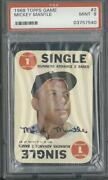 1968 Topps Game 2 Mickey Mantle Psa 9