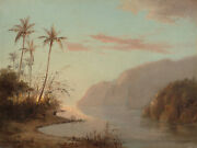 Camille Pissarro - Creek W/ Palm Trees In St. Thomas Virgin Islands 1856 Signed