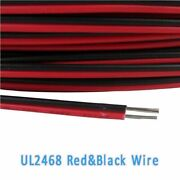 1628awg Ul2468 Flat Ribbon 2 Core Cable Red And Black Stranded Electronic Wire