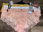 Daisy Fuentes Womens Hipster Underwear Panties 3-pair Nylon All Lace L