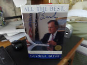 President George Bush Autographed Hard Cover Book All The Best Jsa Certified