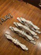4 Vintage Drawer Pulls French Provincial White Gold3andrdquo Centers Hardware Handles