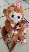 Furreal Friends Large Cuddles My Giggly Monkey Interactive Hasbro With Baby