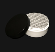Plastic Cosmetic White Jars Low Profile Wide Mouth Black Lid Andseal 2 Oz 36 9334