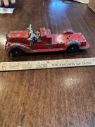 Hubley Diecast Fire Ladder Truck Good Chassis And Wheels No Breaks Or Problems