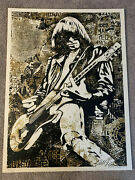Johnny Ramone Gold | Obey Giant Shepard Fairey Poster Print The Ramones