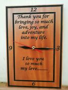 Personalized Wooden Clock