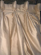 """Gorgeous Brunschwigandfils Pinch Pleat Double Lined Drapes,99.5""""long"""