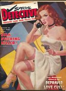 Special Detective-4/1949george Gross Spicy Pin-up Gun Moll Cover-stockings-ga...