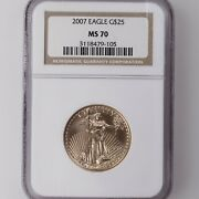 2007 American Gold Eagle G25 Ngc Certified Ms70 1/2oz A.g.e