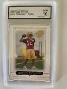 2005 Topps Football Aaron Rodgers Rookie Rc 431 10 Gem Mint