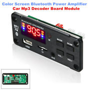 Color Screen With Bluetooth Power Amplifier 225w Car Mp3 Decoder Board Module