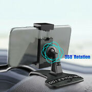 Black Car Dashboard Mount Holder Stand Clamp Clip Accessories For Cell Phone Gps