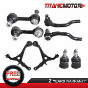 Set8 Control Arm Ball Joint Tie Rod End Sway Bar For Honda Accord Acura Tsx