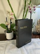 Holy Bible King James Red Letter Edition Concordance Dictionary World 1970'srare