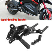 2 Andtimes Universal Motorcycle Landr Foot Peg Bracket Front Rear Pedals Footrest Stand