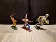 Vintage, Old, Antiques, Plastic Soldiers, Indian, Cowboy And Crusader