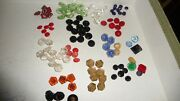 314a Antique Sewing Buttons Large Mixed Lot Of Small Glass Buttons Doll / Baby