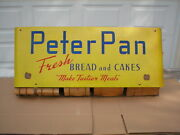 Rare Vintage Peter Pan 1950and039s Paper Bag Holder Sign Country Store Display Super