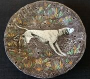 Authentic Gien Rambouillet  Pointer Dessert/lunch Plate.