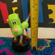 Vintage Push Button Puppet - Non-branded Green Dog