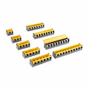 9.5mm Pitch 2-10 Pin Way Covered Pcb Barrier Screw Terminal Block Strip 300v 30a