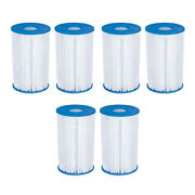 Summer Waves P57000302 Replacement Type B Pool And Spa Filter Cartridge 6 Pack