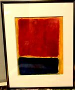 Abstract Painting Study By Listed Artist Demetro 14x11 Inch Frame