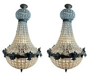 Two Louis Xvi Style Empire Chandelier Charcoal Color - A Pair Free Shipping