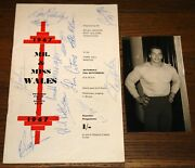 Arnold Schwarzenegger Rare Signed Mr Miss Wales Bodybuilding Programme And03967 Uacc