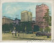 Ca1915 Original Hand Colored Photo Of Downtown Detroit