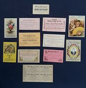 San Francisco Chinese-american Owned Businesses Trade Card Collection