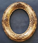 Antique Oval Gold Gilt Picture Frame 9x7 Painting Size 1800and039s Gilded Age